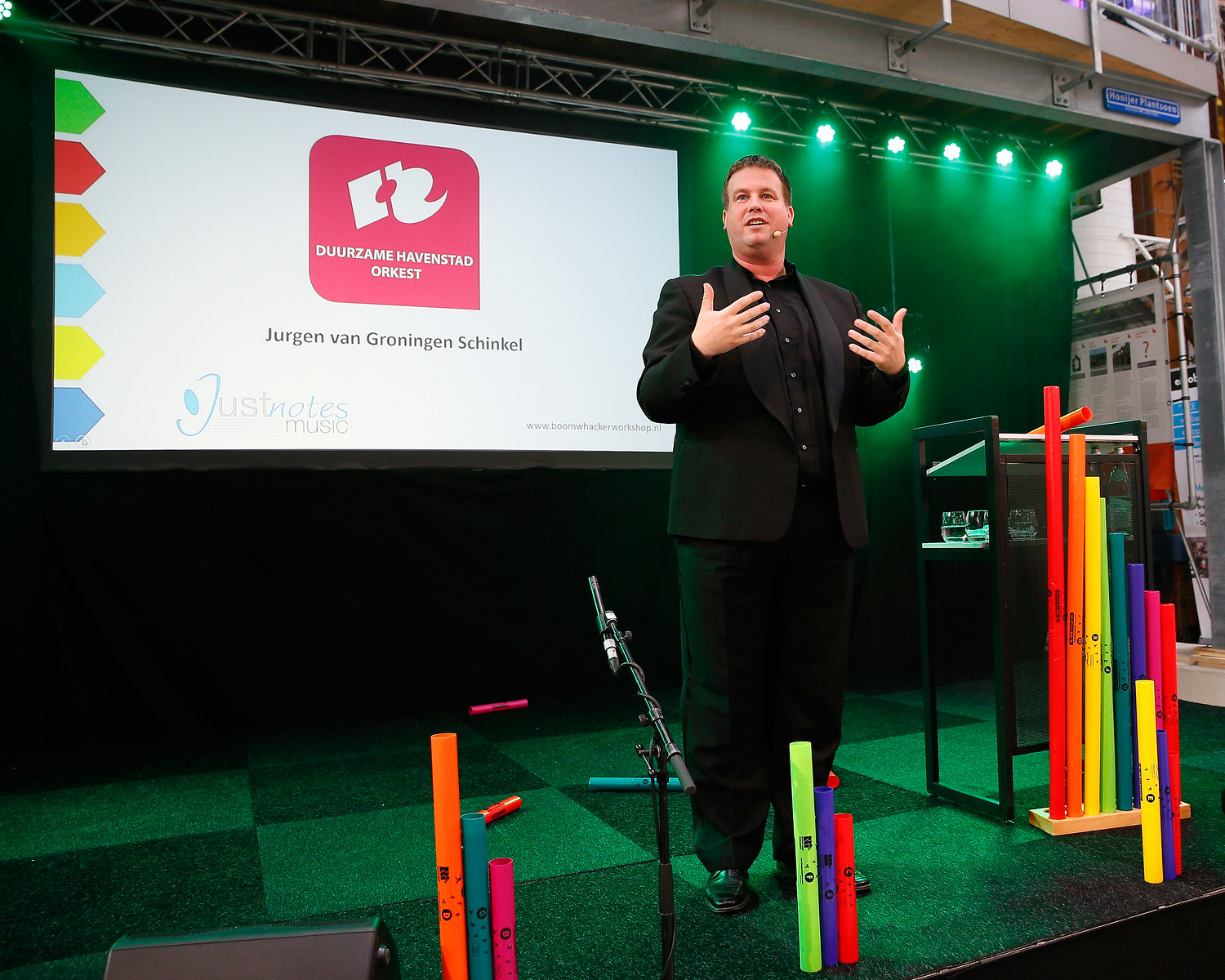 Congres boomwhackers workshop foto: Roy Borghouts